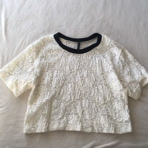 NWOT lace tee